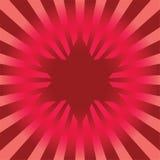 Estrella roja brillante del vector Foto de archivo libre de regalías