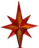 Estrella roja de la Navidad Imagen de archivo