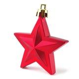 Estrella roja de la Navidad Imágenes de archivo libres de regalías