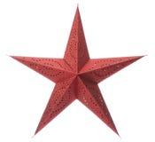 Estrella roja de la Navidad Fotos de archivo