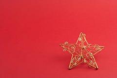 Estrella roja de la Navidad Fotografía de archivo