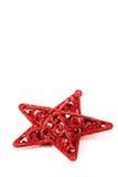 Estrella roja de la Navidad Foto de archivo