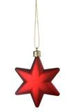 Estrella roja de la Navidad Imagen de archivo libre de regalías