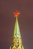 Estrella roja de la torre de Moscú el Kremlin Fotografía de archivo libre de regalías