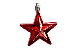 Estrella roja - decoraciones de la Navidad Fotografía de archivo
