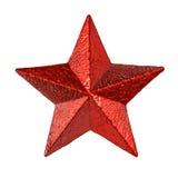 Estrella roja del estaño Foto de archivo libre de regalías