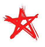 Estrella roja del grunge Foto de archivo libre de regalías