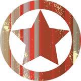 Estrella roja del sheriff Imagen de archivo