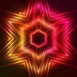 Estrella roja del vector del fuego Imagen de archivo