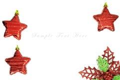 Estrella roja para el fondo de la Navidad. Foto de archivo libre de regalías