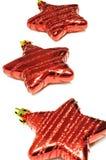 Estrella roja para el fondo de la Navidad. Fotos de archivo libres de regalías