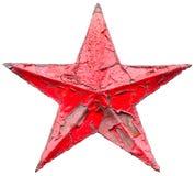 Estrella roja socialista del hierro Imagen de archivo libre de regalías