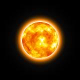 Estrella roja Sun brillante ilustración del vector