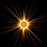 Estrella solar Fotografía de archivo libre de regalías