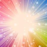 Estrella solar estallada con efecto del bokeh Fotos de archivo libres de regalías