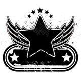 estrella y alas Foto de archivo libre de regalías