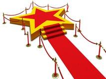 Estrella y alfombra del podio fotos de archivo