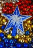 Estrella y bolas imágenes de archivo libres de regalías