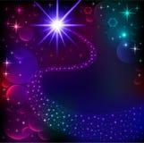 estrella y cometa brillantes brillantes TA que brilla intensamente del fondo libre illustration