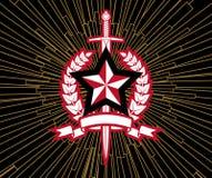 Estrella y espada Imagenes de archivo