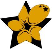 Estrella y flor Imagen de archivo