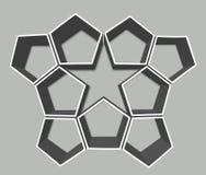 Estrella y hexágonos representación 3d Imagenes de archivo