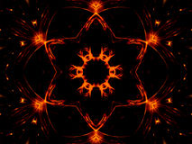 Estrella y luces Imagen de archivo