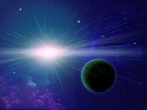 Estrella y planeta Imagenes de archivo
