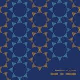 Estrellas abstractas de la materia textil en marco geométrico oscuro Imagenes de archivo