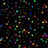 Estrellas aisladas en fondo Celebración del confeti La decoración abstracta de las estrellas el caer para el partido, cumpleaños  stock de ilustración