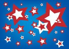 Estrellas americanas stock de ilustración