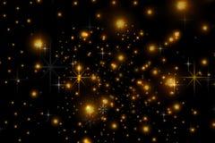 Estrellas animadas en un fondo negro El cielo estrellado ilustración del vector