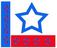 Estrellas azules blancas rojas Stock de ilustración