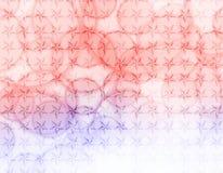 Estrellas azules rojas con el papel pintado de las burbujas Imagen de archivo libre de regalías