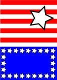 Estrellas blancas azules rojas abstractas Foto de archivo