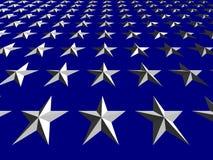 Estrellas blancas en el fondo azul, inclinado Fotografía de archivo