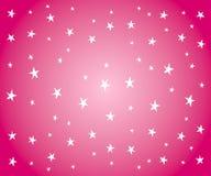 Estrellas blancas en fondo rosado stock de ilustración