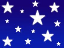Estrellas brillantes blancas Foto de archivo libre de regalías