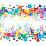 Estrellas brillantes coloridas Imágenes de archivo libres de regalías
