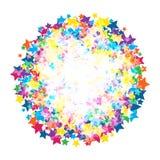 Estrellas brillantes coloridas Fotos de archivo libres de regalías