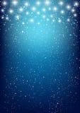 Estrellas brillantes en azul Fotos de archivo libres de regalías
