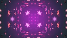 Estrellas brillantes simétricas que mueven el universal colorido de descoloramiento de la nueva de la calidad de la animación del stock de ilustración