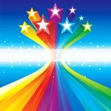 Estrellas celebradoras cobardes Imagen de archivo libre de regalías