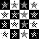 Estrellas Checkered Fotografía de archivo libre de regalías