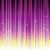 Estrellas chispeantes con la raya magenta púrpura Imagen de archivo libre de regalías