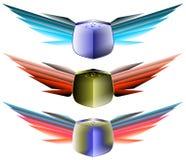 Estrellas coas alas del wwith de los escudos libre illustration