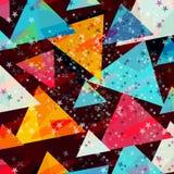 Estrellas coloreadas y fondo geométrico de los triángulos para su diseño libre illustration