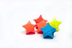 Estrellas coloridas de la papiroflexia Foto de archivo