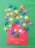 Estrellas coloridas de la papiroflexia Imagenes de archivo