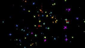 Estrellas coloridas que vuelan stock de ilustración